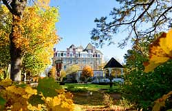 Crescent Hotel in the fall